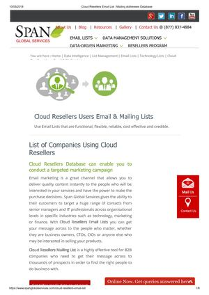 Highly Targeted and Responsive Cloud Users List