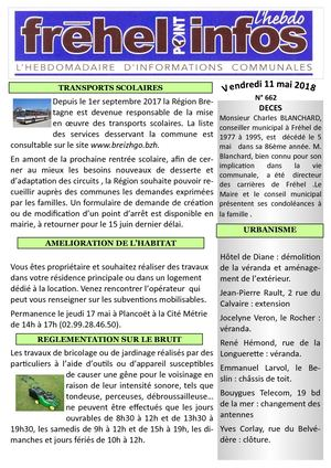 Journal municipal Fréhel.info du 11 Mai 2018
