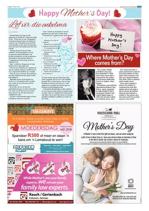 Mossel Bay Advertiser Mother's Day feature 2018