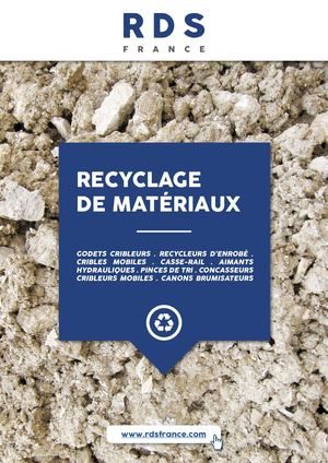 Catalogue RECYCLAGE / RDS France
