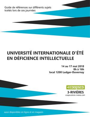 UNIVERSITÉ INTERNATIONALE D'ÉTÉ EN DÉFICIENCE INTELLECTUELLE