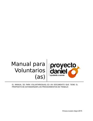 Manual Para Voluntariado 2018 Definitivo