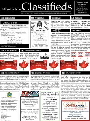 Classifieds May 15, 2018