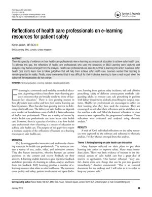 Reflections On E Learning Resources