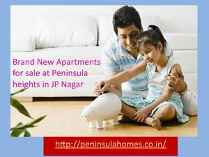 Brand New Apartments For Sale At Peninsula Heights In Jp Nagar