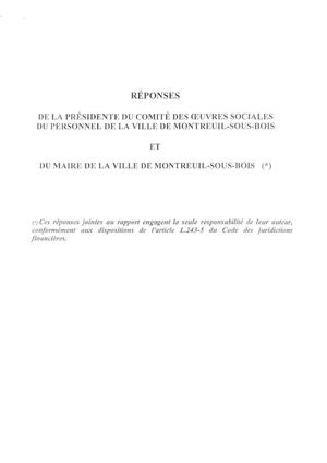Reponses Rapport Crc Cos Montreuil Reponse