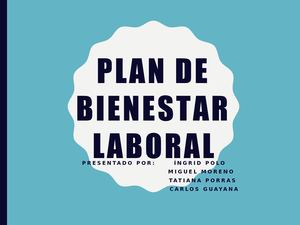 Cartilla Plan De Bienestar
