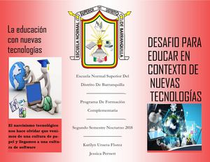 Folleto Desafio De La Educacion