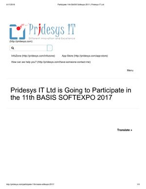 Participate 11th BASIS Softexpo 2017 | Pridesys IT Ltd