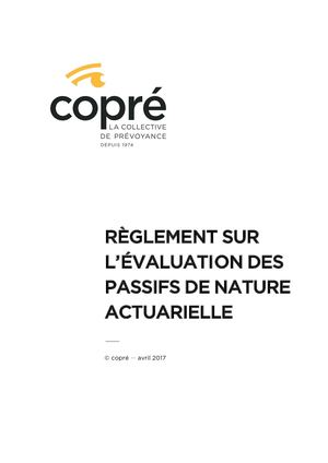 2018 04 27 Reglement Passifs Nature Actuarielle (ex 31 12 2016)_version Avril 2017, Mercer, V3, Validé Par CF Du 27 04 2017 FR DEF