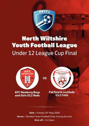 North Wilts Under 12 League Cup Final Programme V1