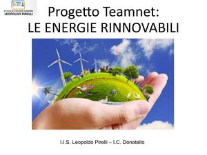 Le Energie Rinnovabili 3cll Teamnet 2015 I C Donatello New