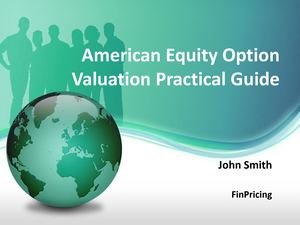 Pricing Guide for Equity American Option