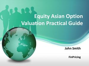 Pricing Guide for Equity Asian Option