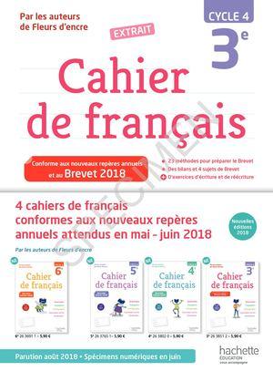 Calameo Extrait Cahier Francais 3e