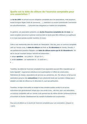 Calameo Quelle Est La Date De Cloture De L Exercice Comptable Pour Une Association