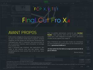 FCP X, Vite ! (FCP X.4) Sommaire