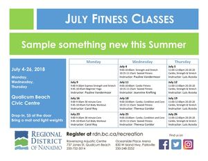 July Fitness Classes