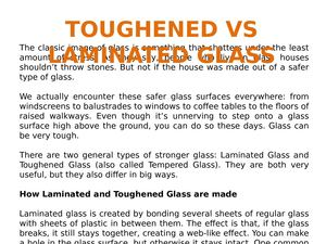 Toughened Vs Laminated Glass