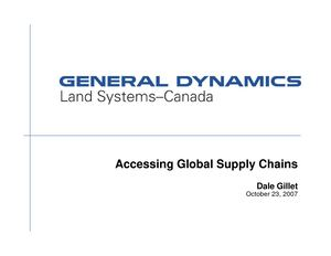 Accessing Global Supply Chains - Gillet