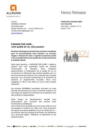 News Normbau Passion For Care_ FR