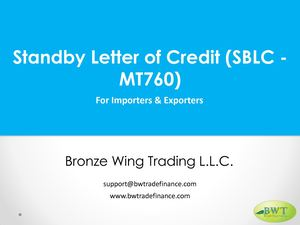 Standby Letter Of Credit Sblc MT760