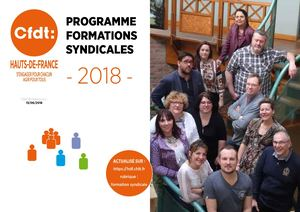 2018 Programme Formations Syndicales CFDT HDF