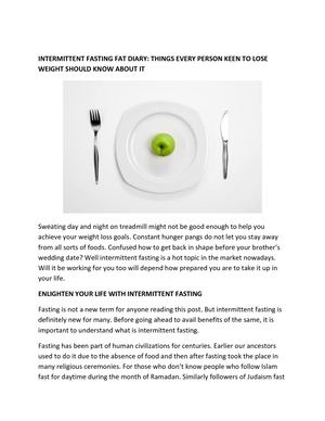 Intermittent Fasting Download Pdf Herbalcart