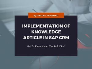 Implementation of Knowledge Article in SAP CRM