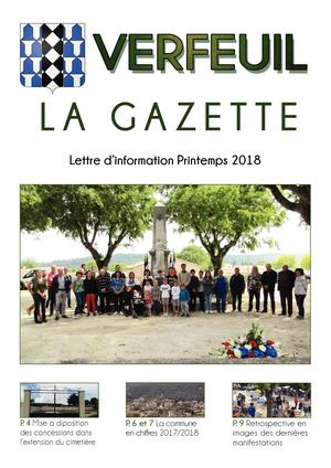 Gazette de Printemps 2018