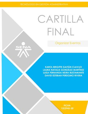 Cartilla Final Organizar Eventos