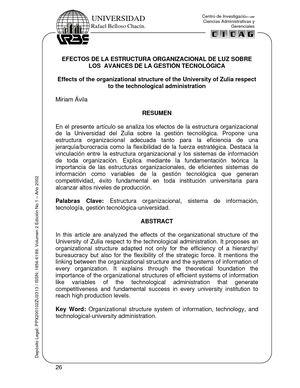 Calaméo Efectos De La Estructura Organizacional De Luz
