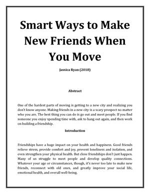 calaméo smart ways to make new friends when you move