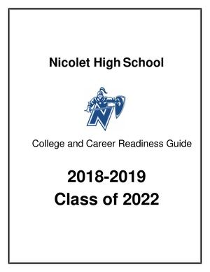 2018-2019 College And Career Readiness Guide For 9th grade