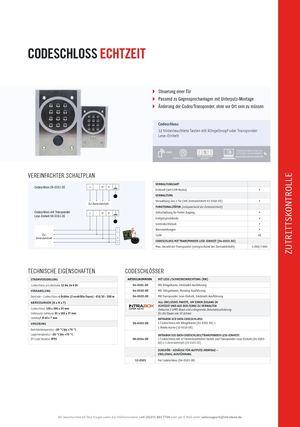 Calaméo - Produktblatt Codeschloss