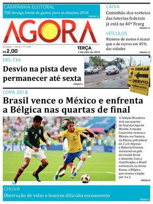 b51289088c Calaméo - Jornal Agora - Edição 12085 - 3 de Julho de 2018