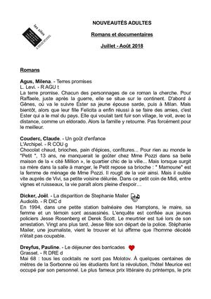 Calaméo - Liste Nouveautés - Plateau adultes - Eté 2018 c6cbd85942f