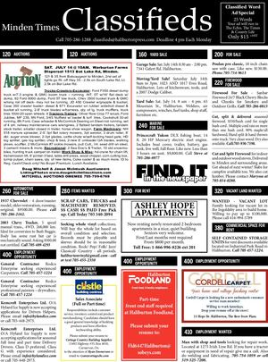 Classifieds July 12, 2018