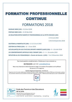 EPE42 Catalogue De Formations 2018