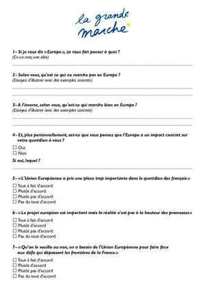 Questionnaire GME