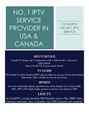 No 1 Iptv Service Provider In Usa & Canada by https://cloud9tv.info/