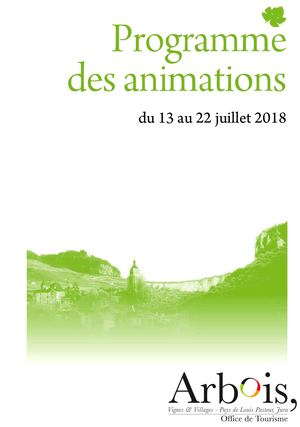 Animations Arbois