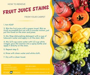 How To Remove Fruit Juice Stains From Your Carpet