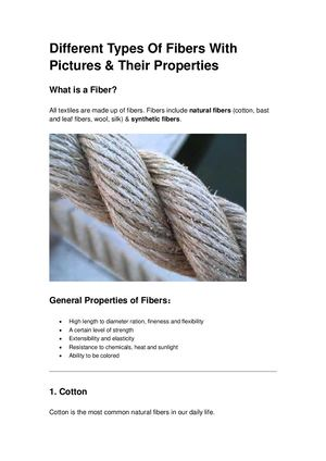 Different Types Of Fibers With Pictures