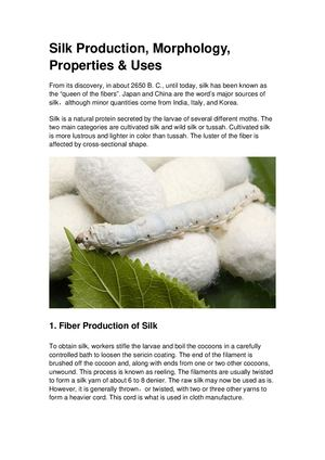 Introduction Of Silk