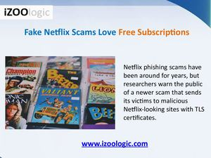 Fake Netflix Scams Love Free Subscriptions