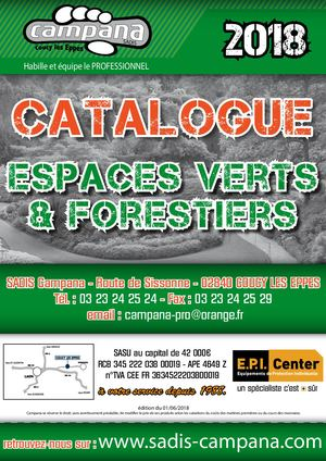 Catalogue Espaces Verts Forestiers 2018