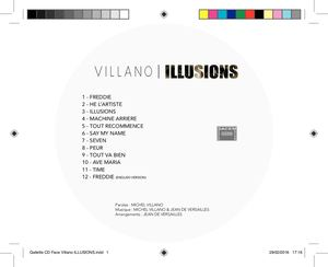 Etiquette du CD Album de Michel Villano Illusions  02-2016