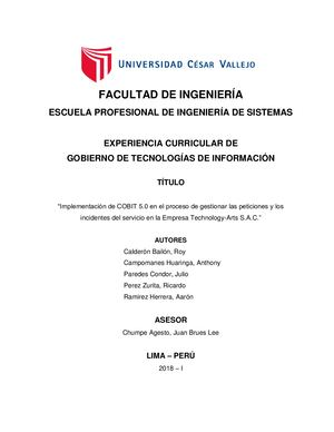 Facultad De Ingeniería Grupo Cobit X Version Final