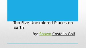 Unexplored Places On Earth By Shawn Costello Golf